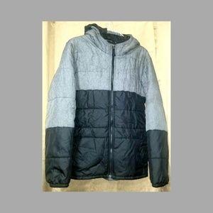 Children's grey/black puffy Columbia winter jacket